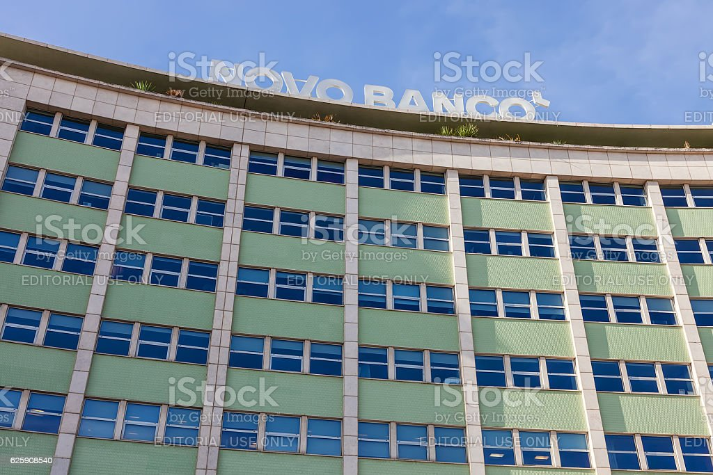 Novo Banco Bank. Lisbon, Portugal - foto de acervo