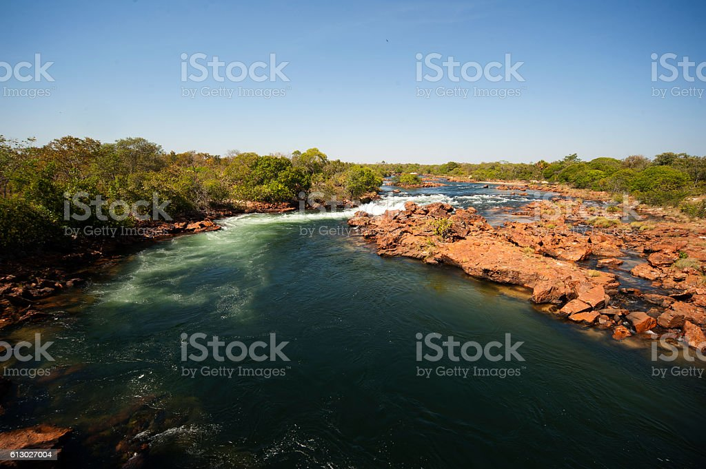 Novo river at Jalapão, one of wildest area in Brazil stock photo