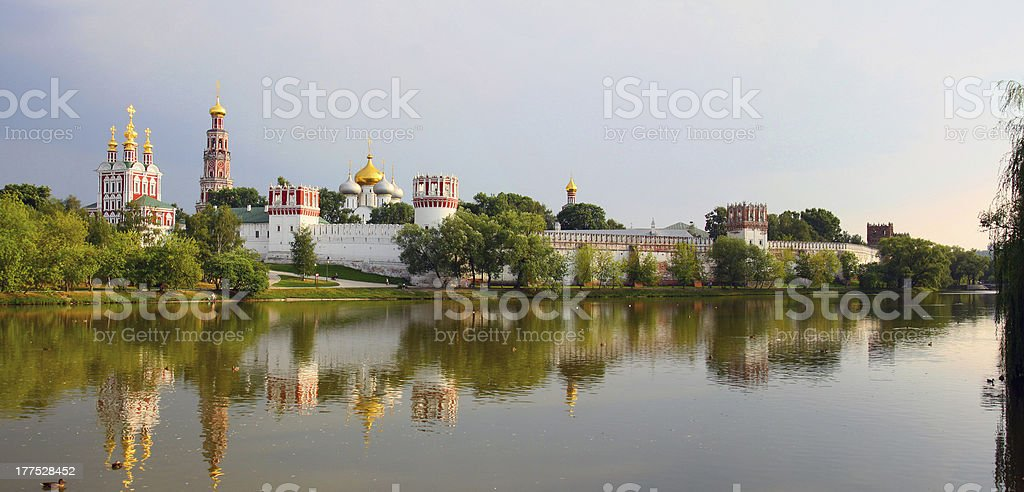 Novodevichy convent stock photo