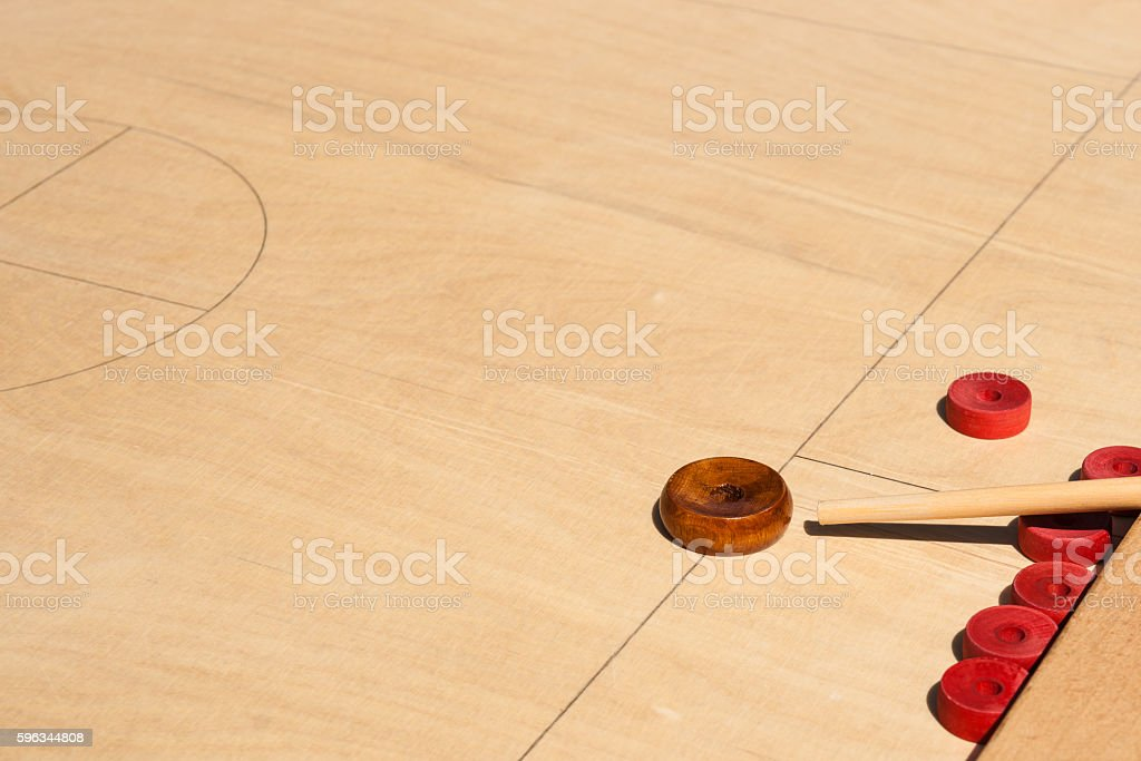Novus game board and red disks royalty-free stock photo