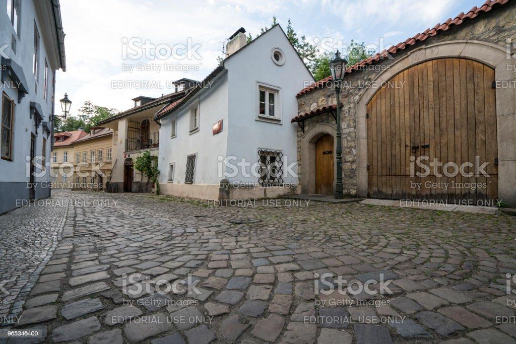 Novy Svet district in Prague zbiór zdjęć royalty-free