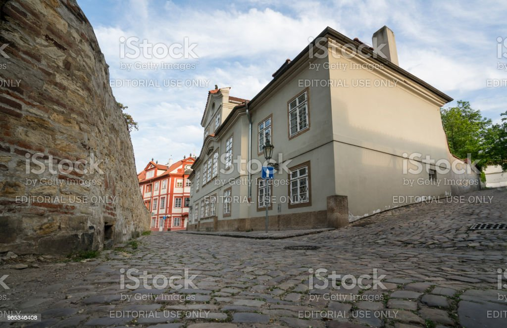 Novy Svet district in Prague royalty-free stock photo