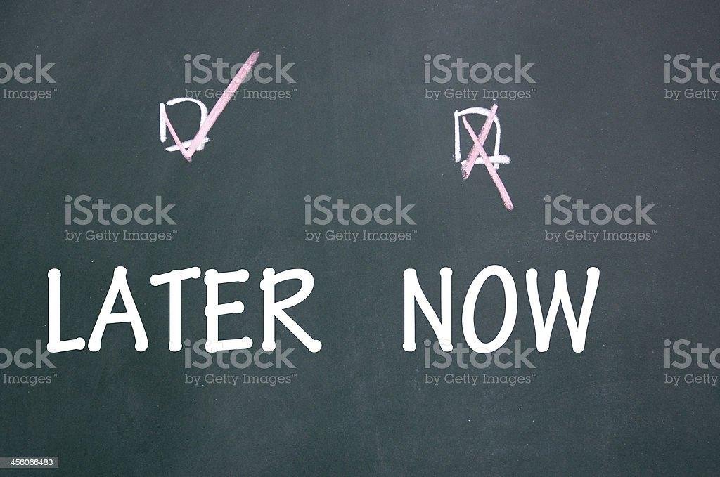 Jetzt und später Wahl – Foto