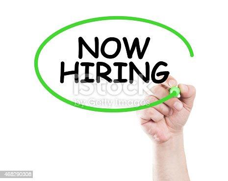 istock Now hiring 468290308