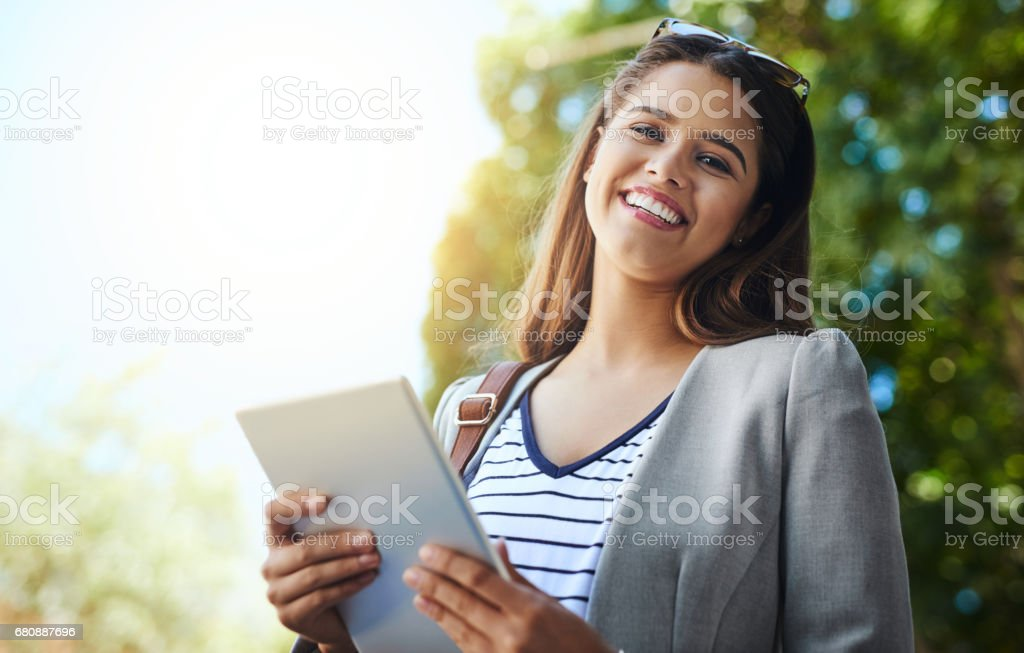 Now I'm connected wherever I go royalty-free stock photo