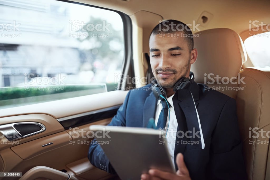 Now I'm ready for that meeting... stock photo