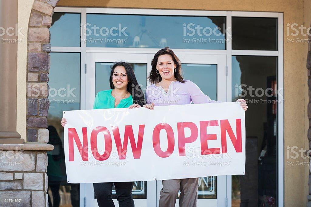Now open stock photo