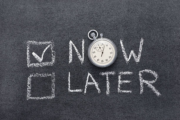 now or later - urgency stock photos and pictures