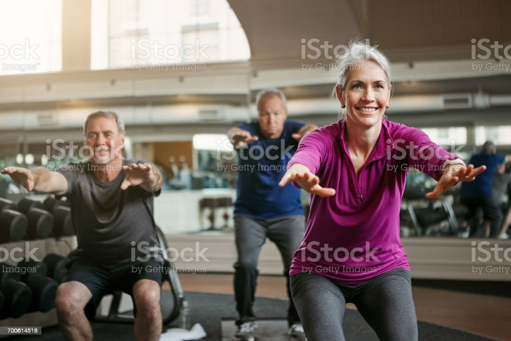 Now squat! stock photo