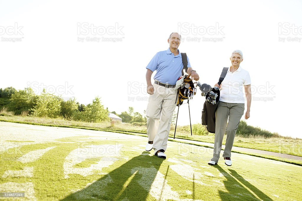 Now that was a good tee off! royalty-free stock photo