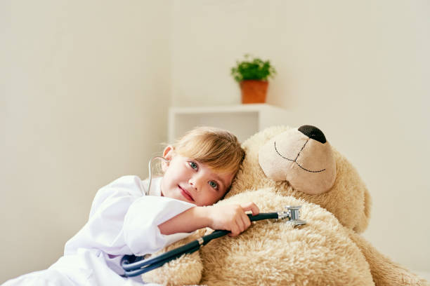 now that's a happy sounding heart - teddy bear stock photos and pictures
