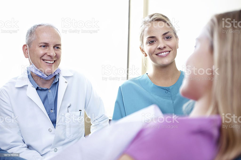 Now that's the kind of smile we like to see! royalty-free stock photo