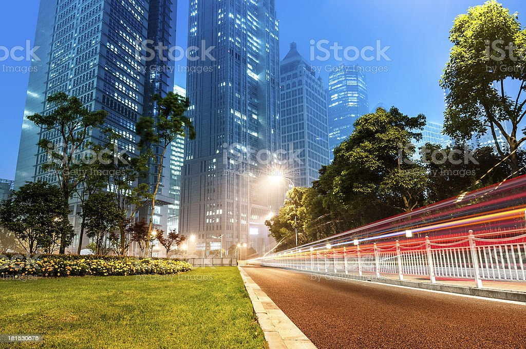 Now the city at night royalty-free stock photo