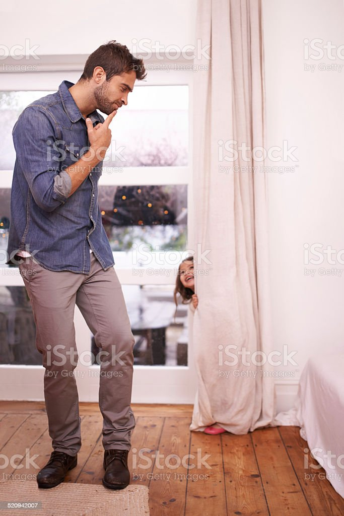 Now where could she be? stock photo