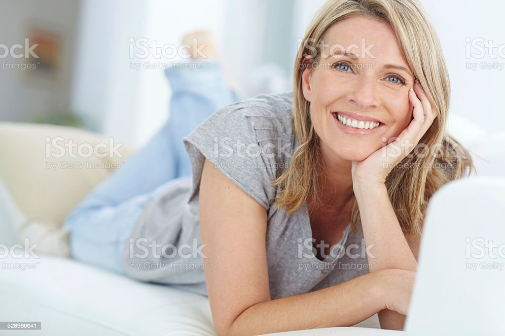 Nowhere more relaxing than home stock photo