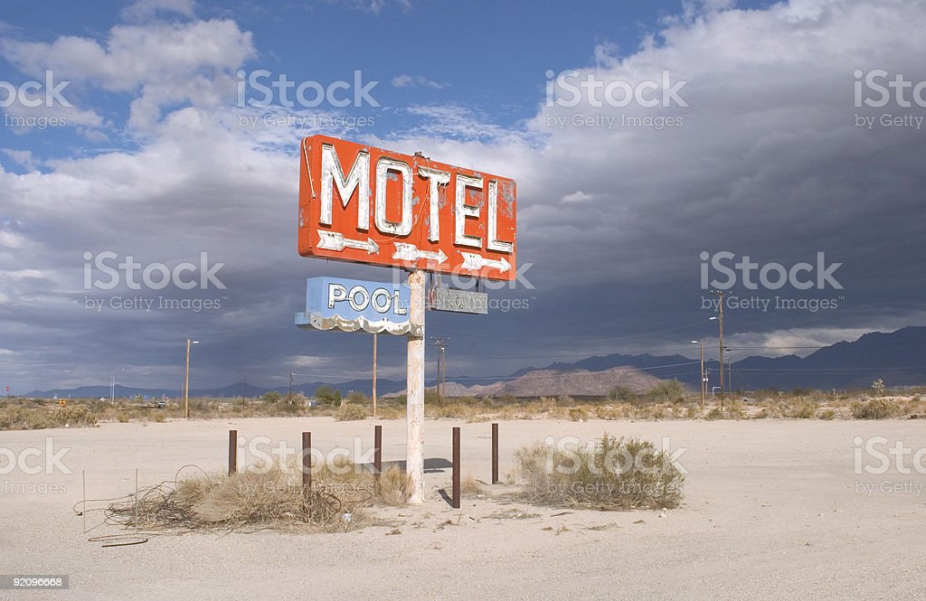 Nowhere Motel (2nd view) stock photo