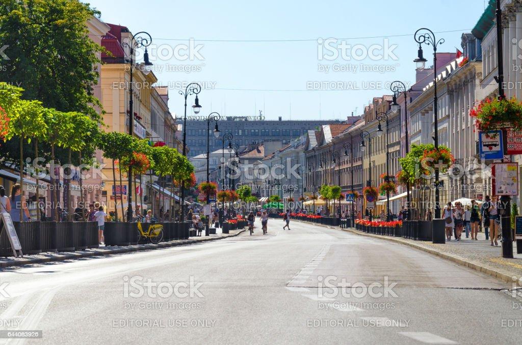 Nowy Swiat Street stock photo