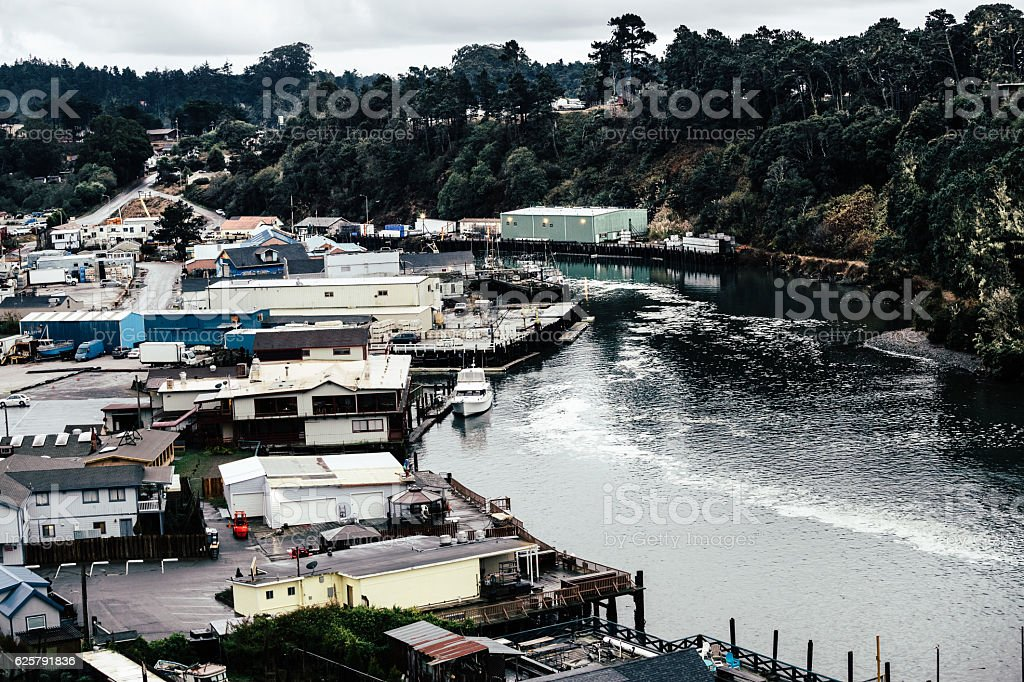 Noyo River, Fort Bragg, Mendocino, California USA stock photo