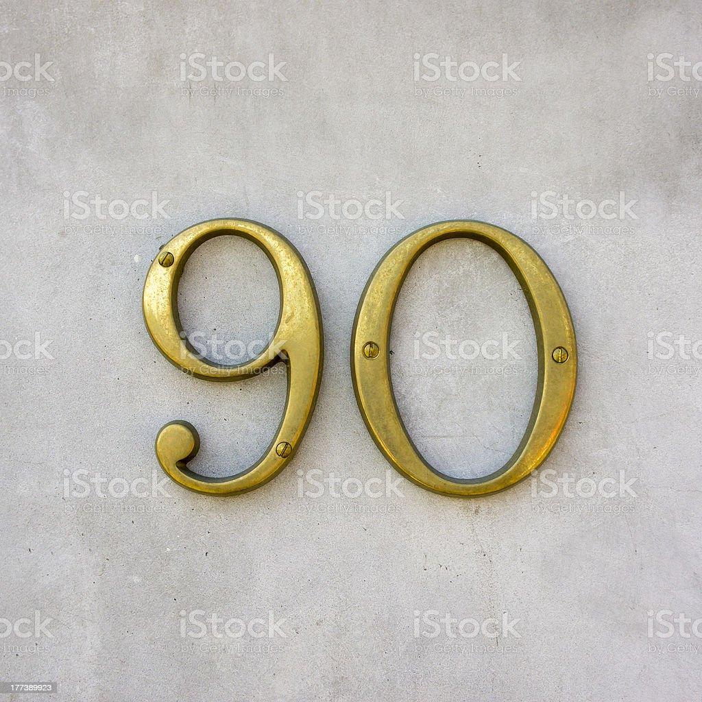 Nr. 90 stock photo