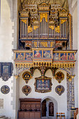 Nördlingen, organ in the Saint George's Church (Romantic Road, Bavaria, Germany)