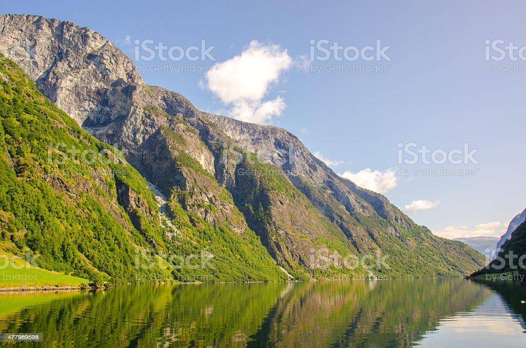 Nærøyfjord in Norway stock photo