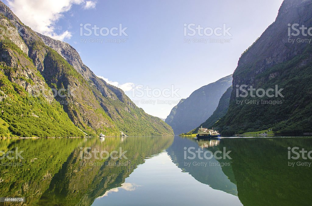 Nærøyfjord in Norway stock photo