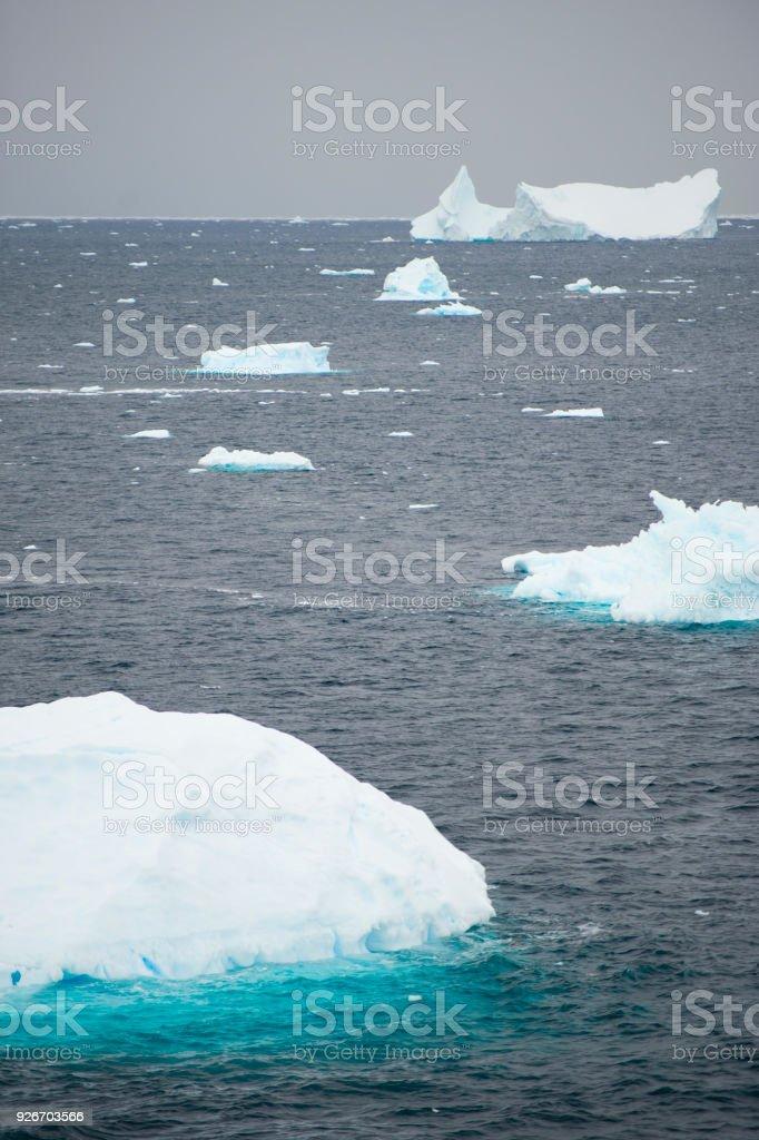ntarctica - Non-Tabular Iceberg stock photo