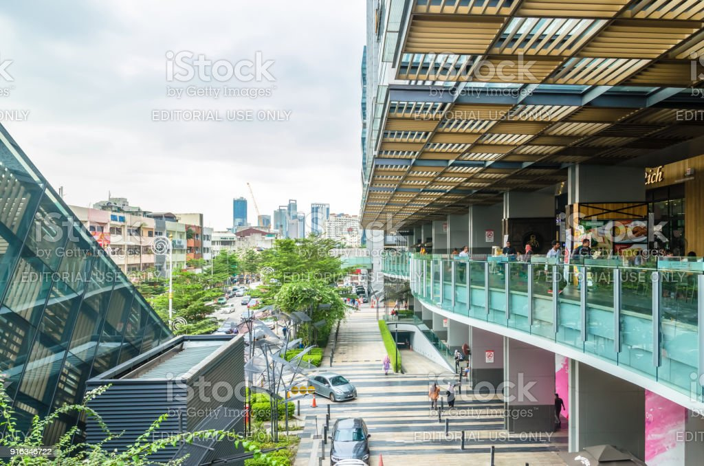 Nu Sentral is the latest trendy shopping mall in the ever-bustling Kuala Lumpur. It is the Malaysia's largest rail transport hub. stock photo