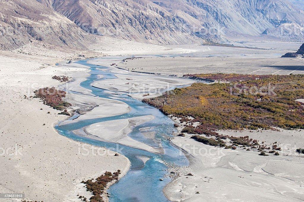 Nubra Valley in Ladakh stock photo
