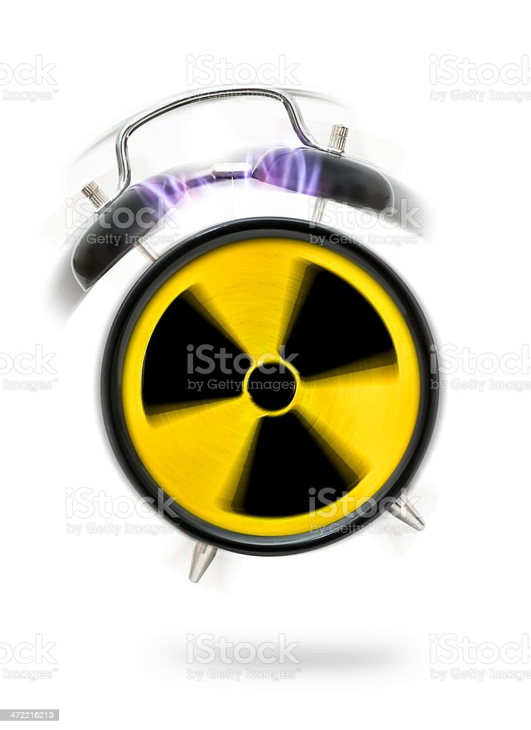 nuclear alarm royalty-free stock photo