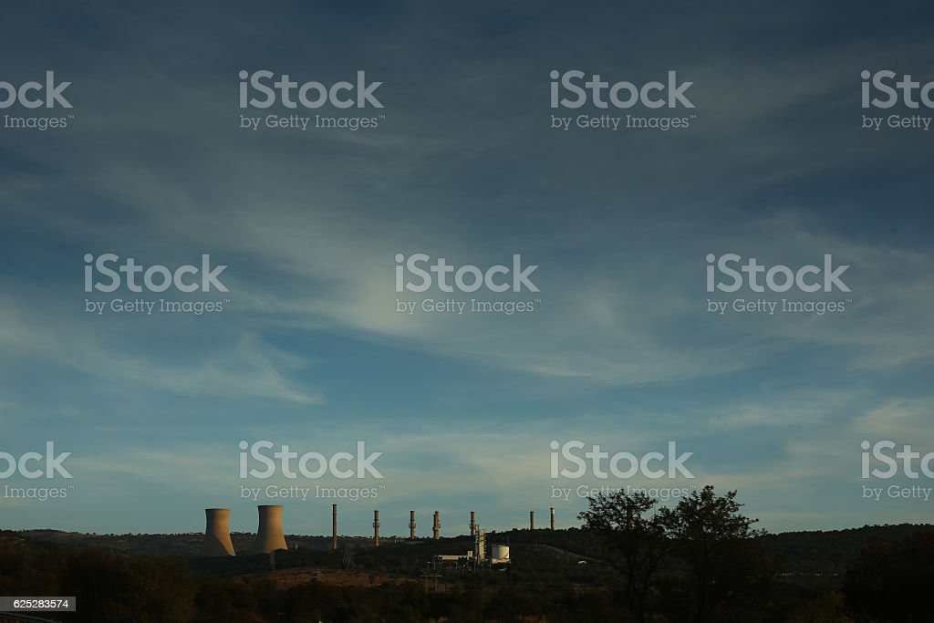 Nuclear Blue stock photo