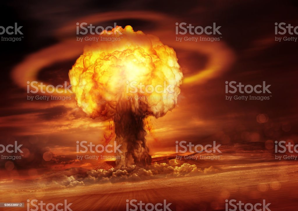 Nuclear Bomb Detonation stock photo