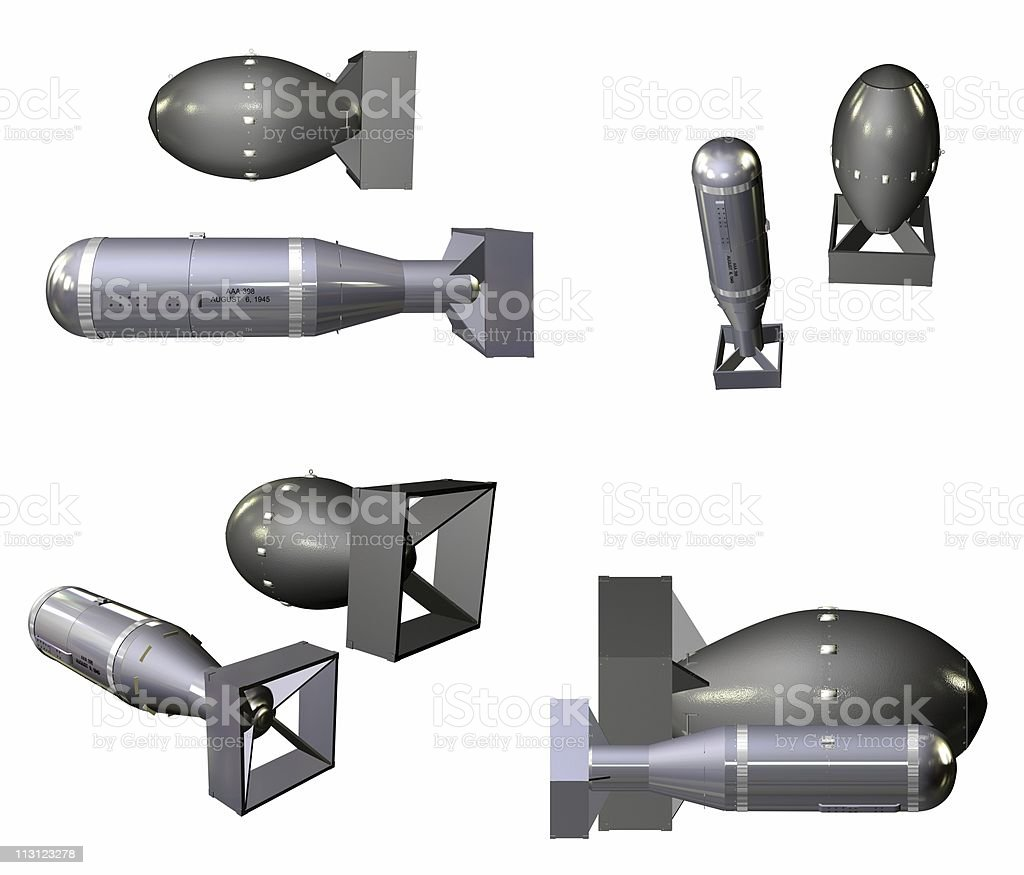 Nuclear Bombs Angles (Isolated) stock photo