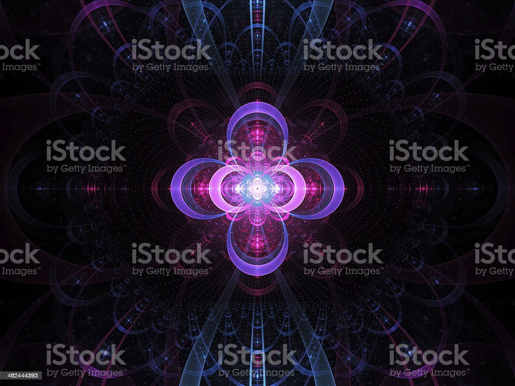 Nuclear cold fusion abstract fractal background stock photo