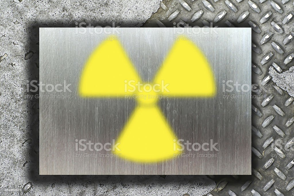nuclear danger warning background royalty-free stock photo