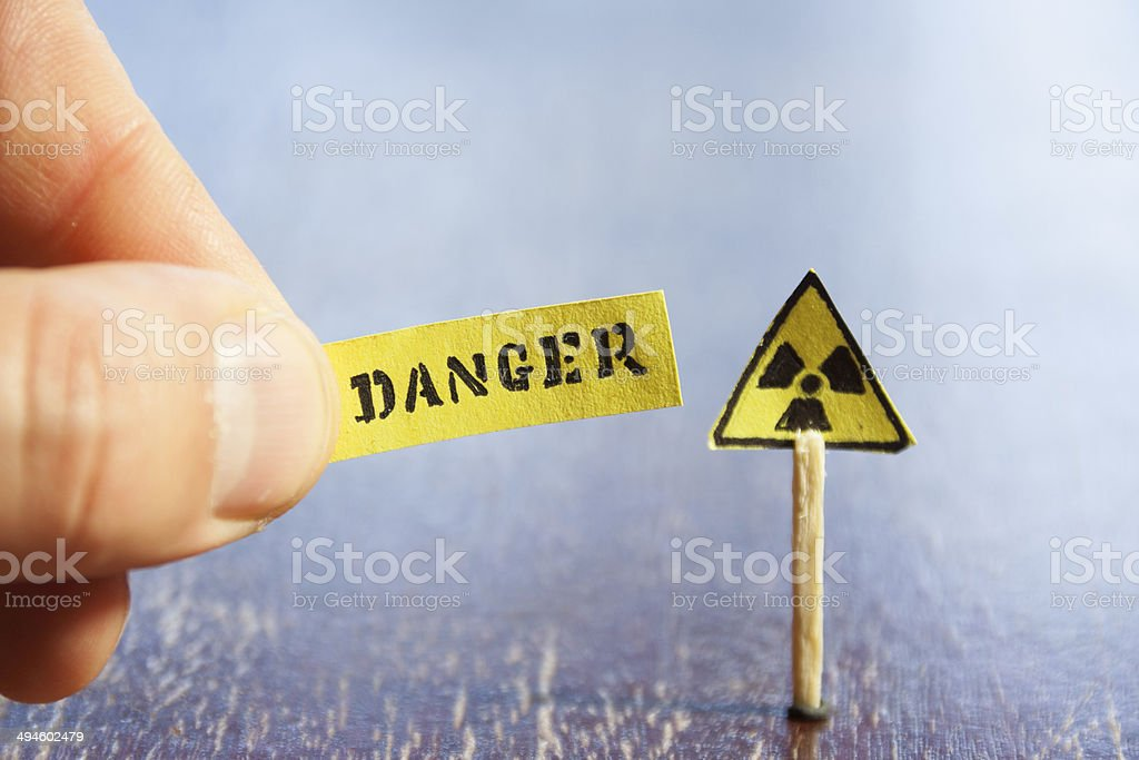 Nuclear danger warning stock photo