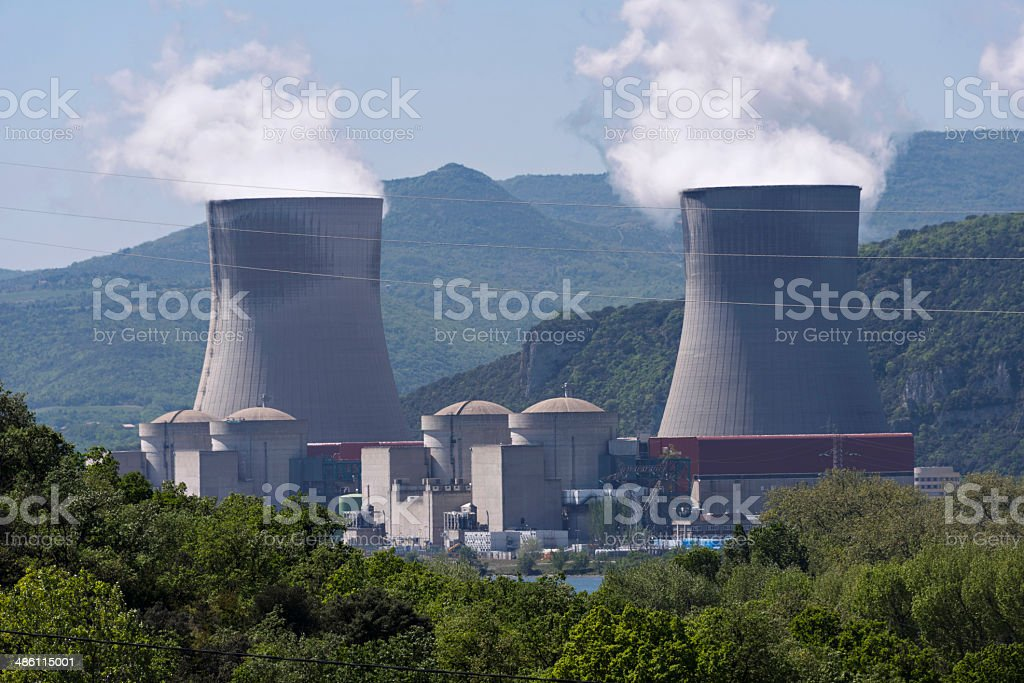Nuclear energy.Power Station royalty-free stock photo