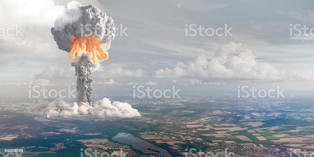 Nuclear explosion from height of bird's flight. – Foto