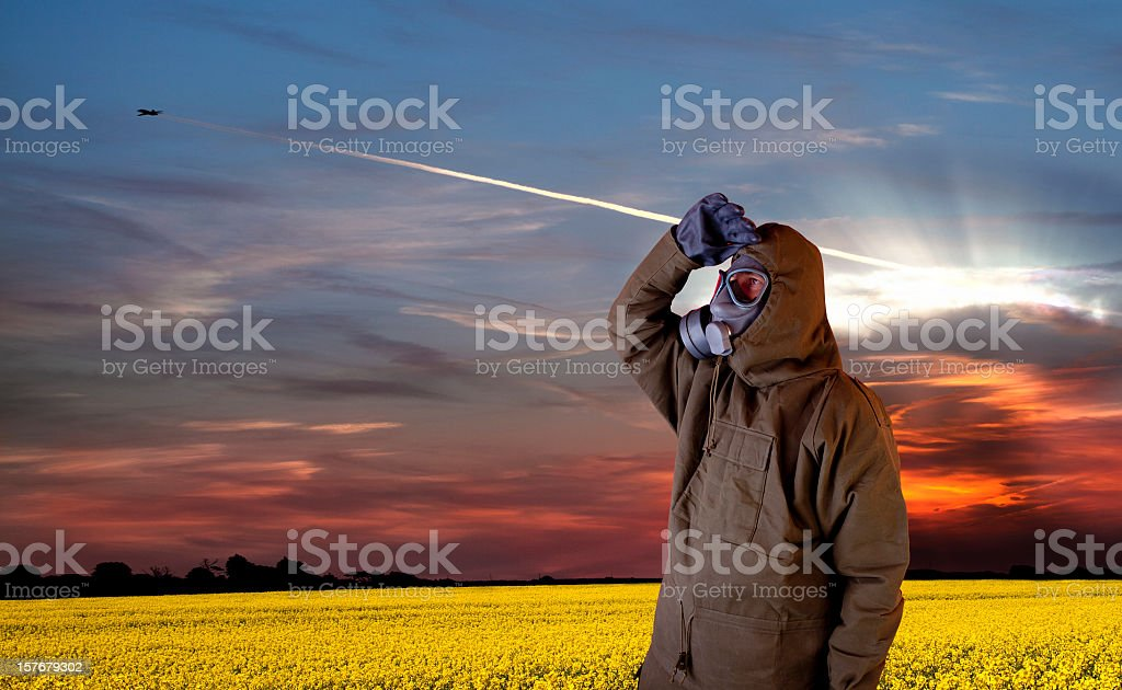 Nuclear explosion stock photo