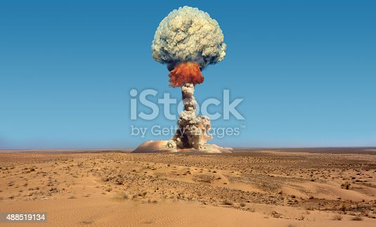 Imitation of nuclear explosion.
