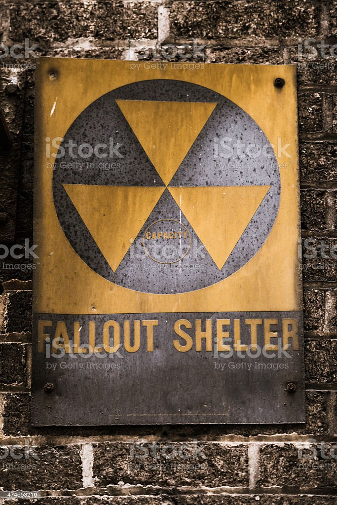 Nuclear Fallout Sign stock photo