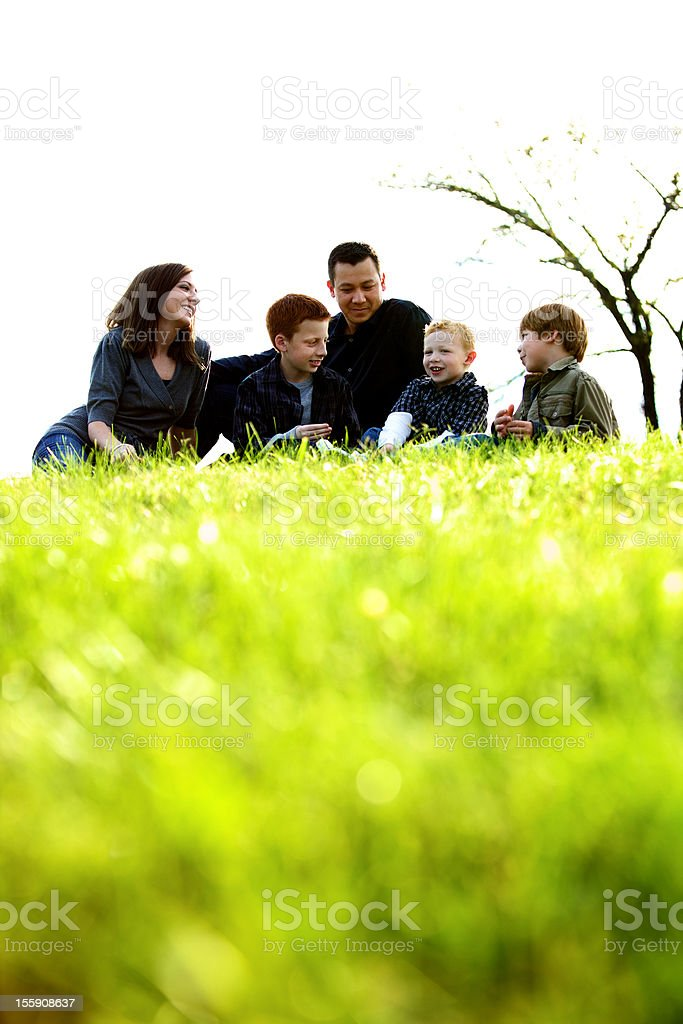 nuclear family parents sibling boys royalty-free stock photo