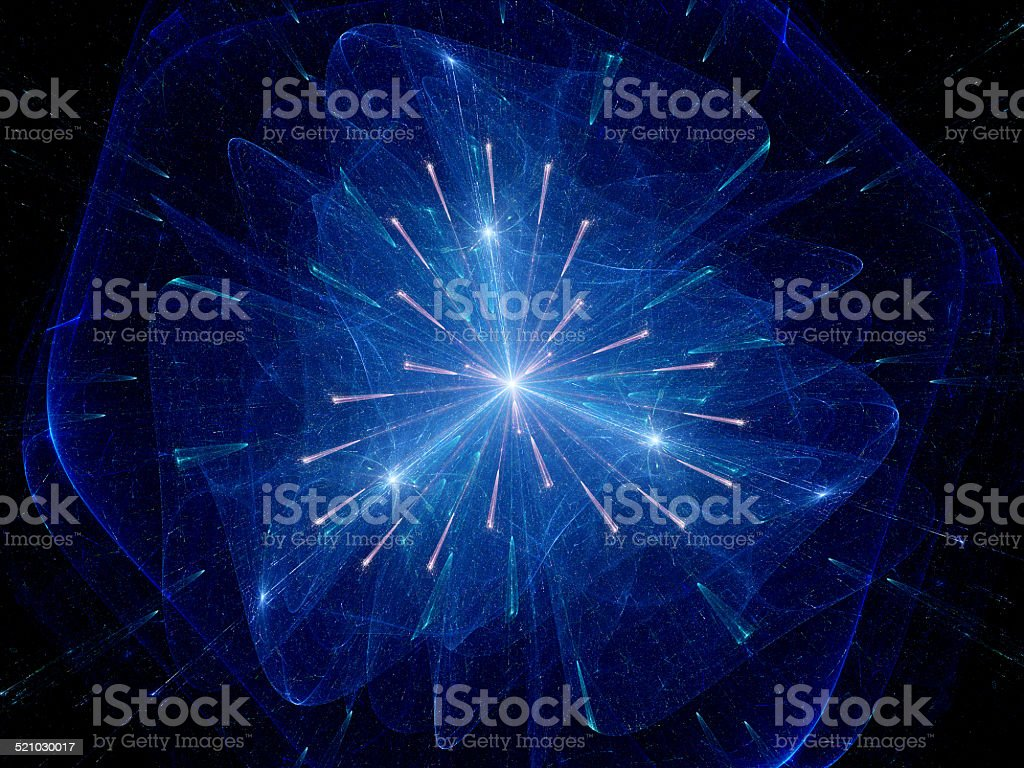 Nuclear fission fractal stock photo