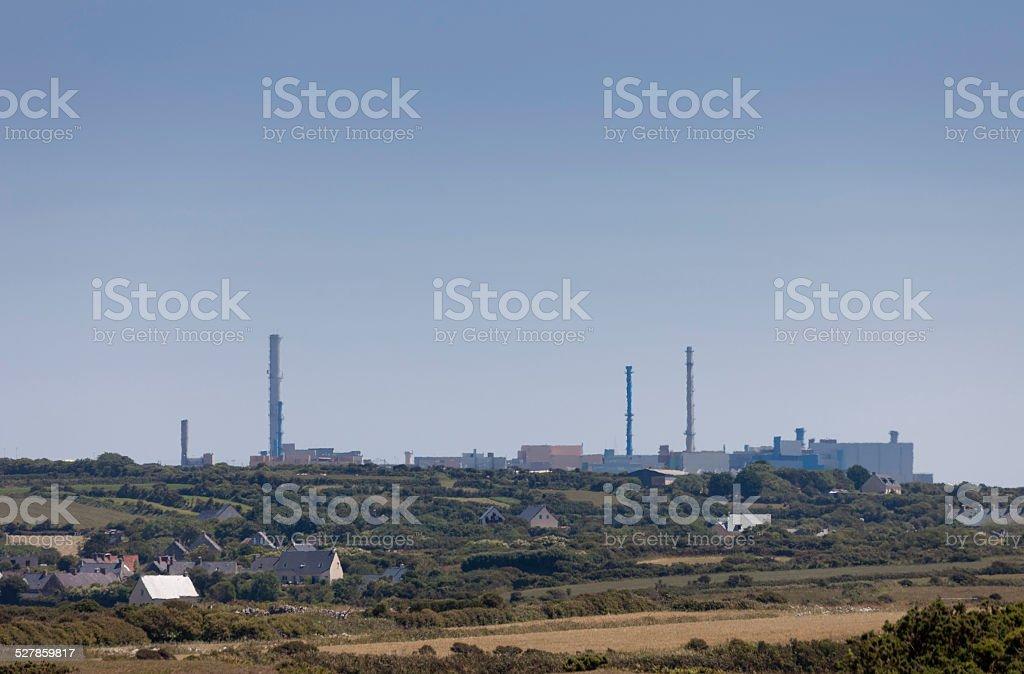Nuclear fuel reprocessing plant La Hague stock photo