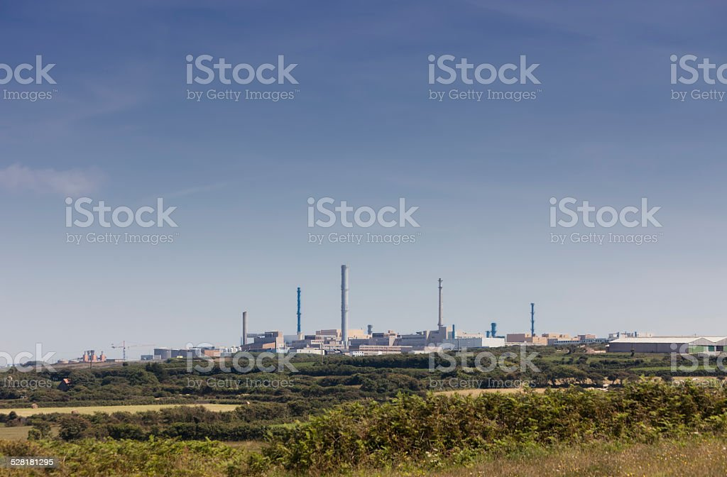 Nuclear fuel reprocessing plant stock photo