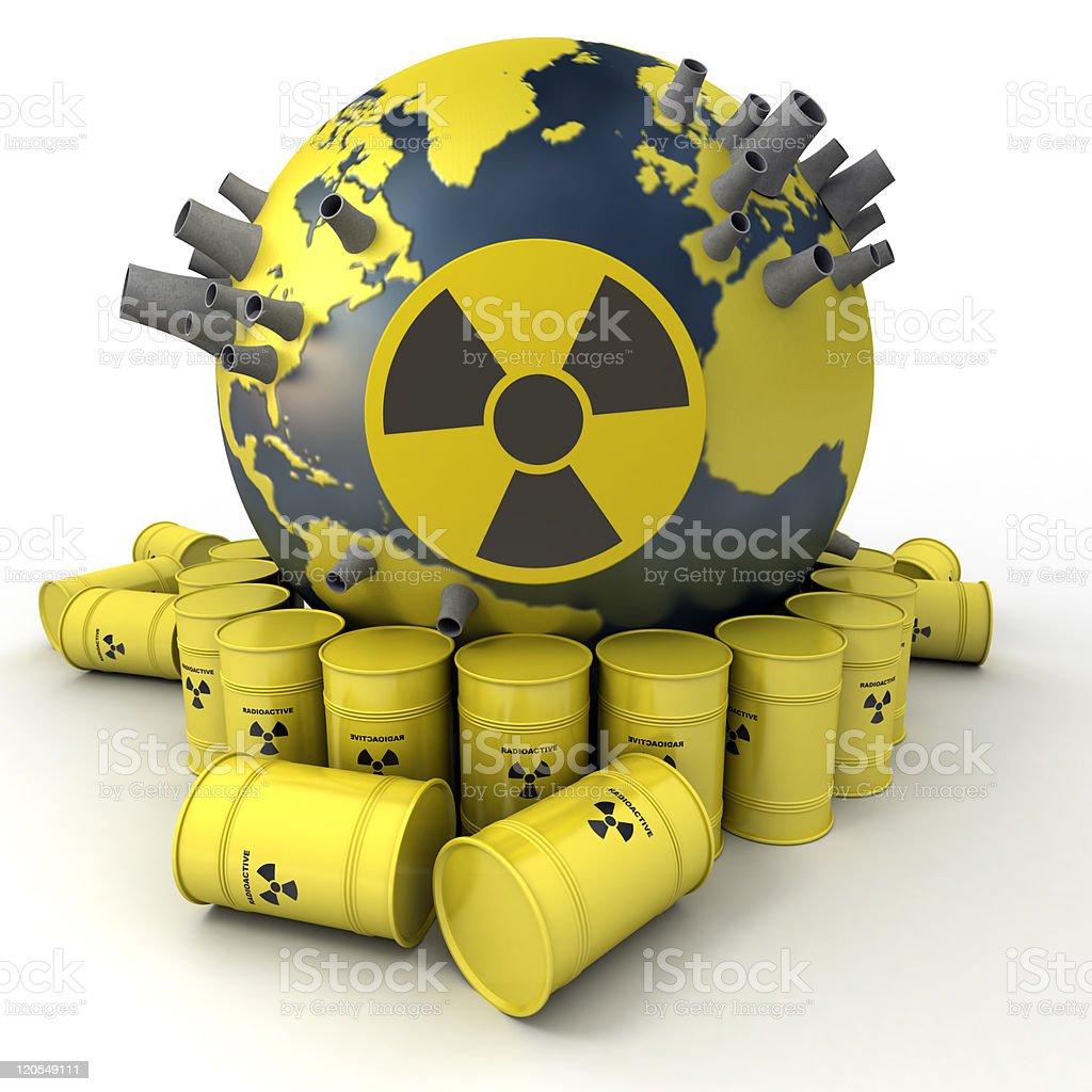 Nuclear hazard stock photo