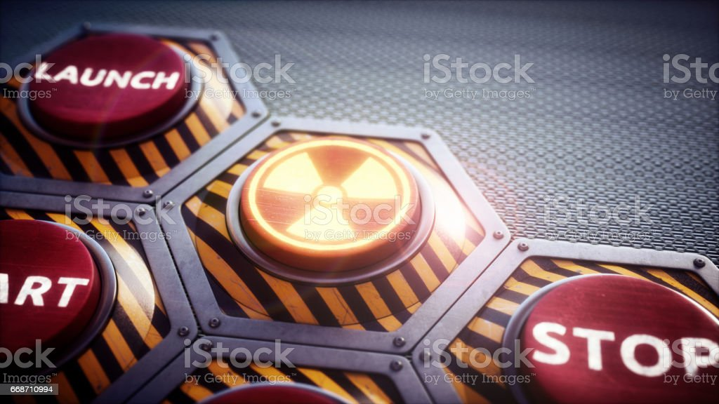Nuclear Launch Panel stock photo
