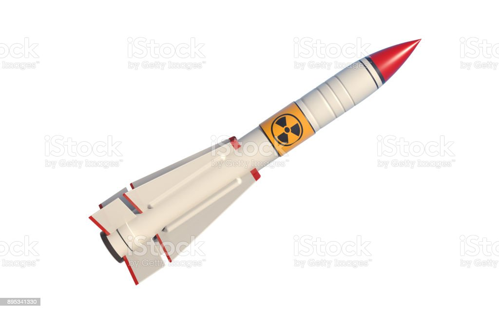 Nuclear Missile Isolated On White Background stock photo