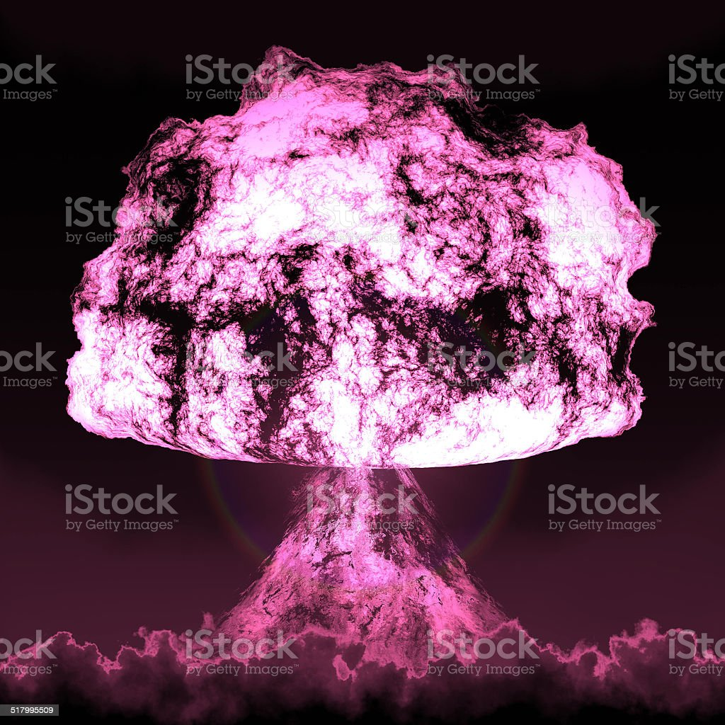 Nuclear mushroom stock photo