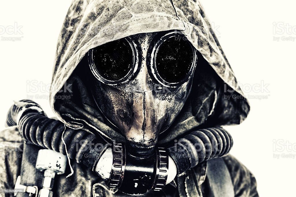 Nuclear post apocalypse stock photo
